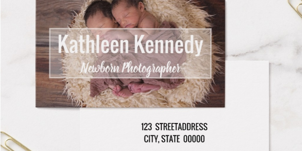 Newborn Photographer Business Cards